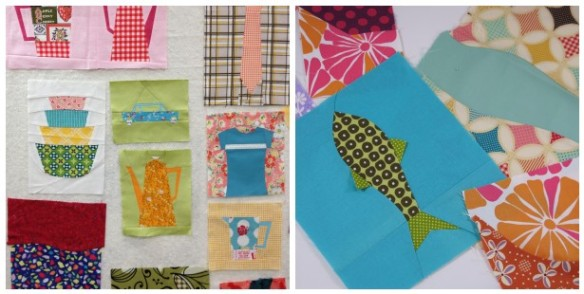 Foundation Piecing with Penny Layton.  I learned how to piece curves and Y-seams and I designed a fish with floppy fins.