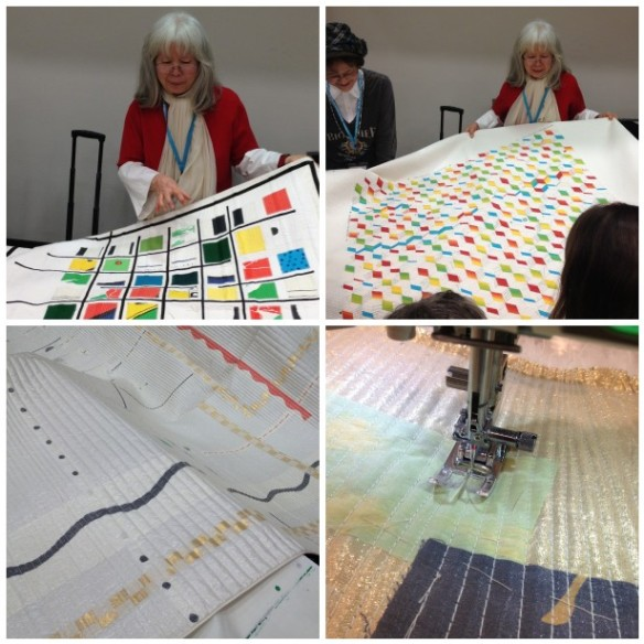 I was fortunate to get into a class with Japanese artist Yoshiko Jinzenji - quilting with sheer fabrics