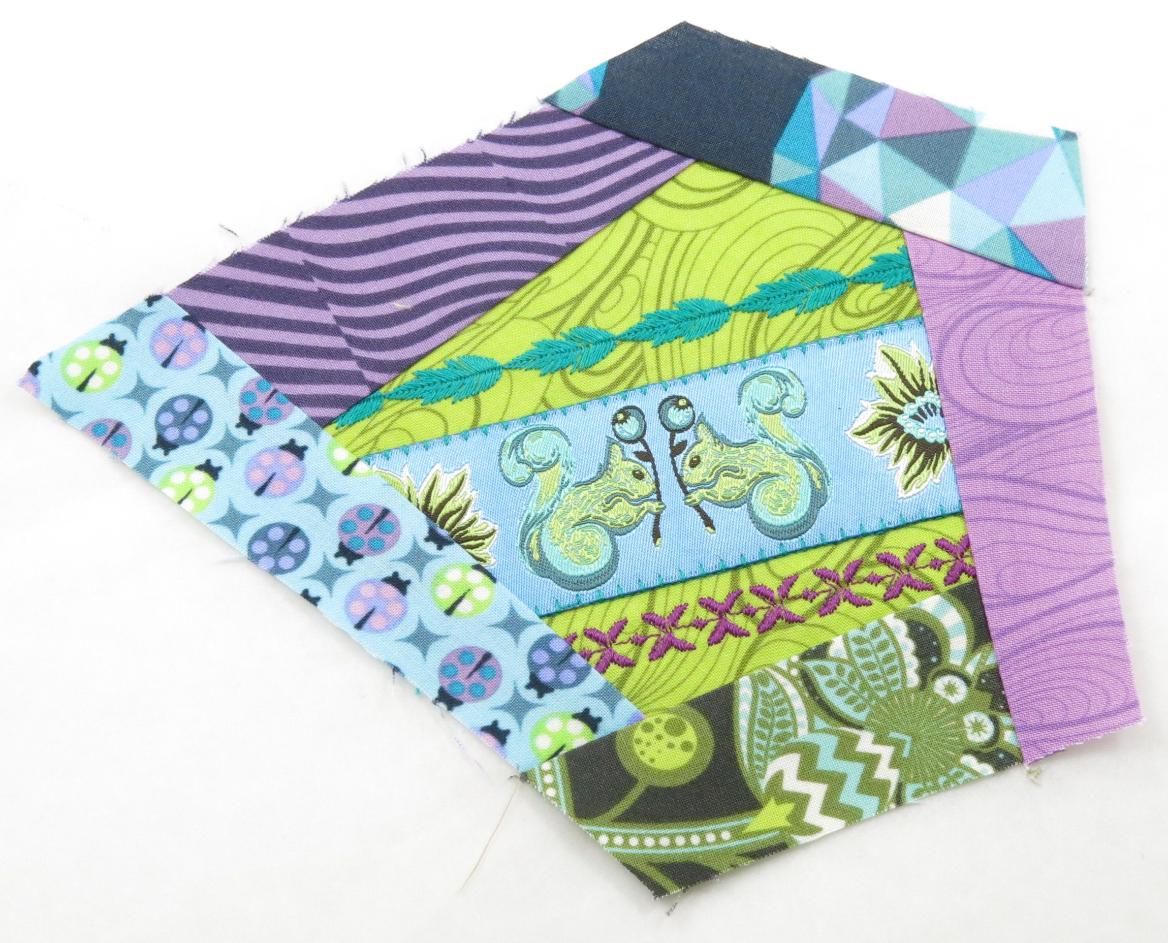Crazy quilting in a modern way inspirations stitch by stitch