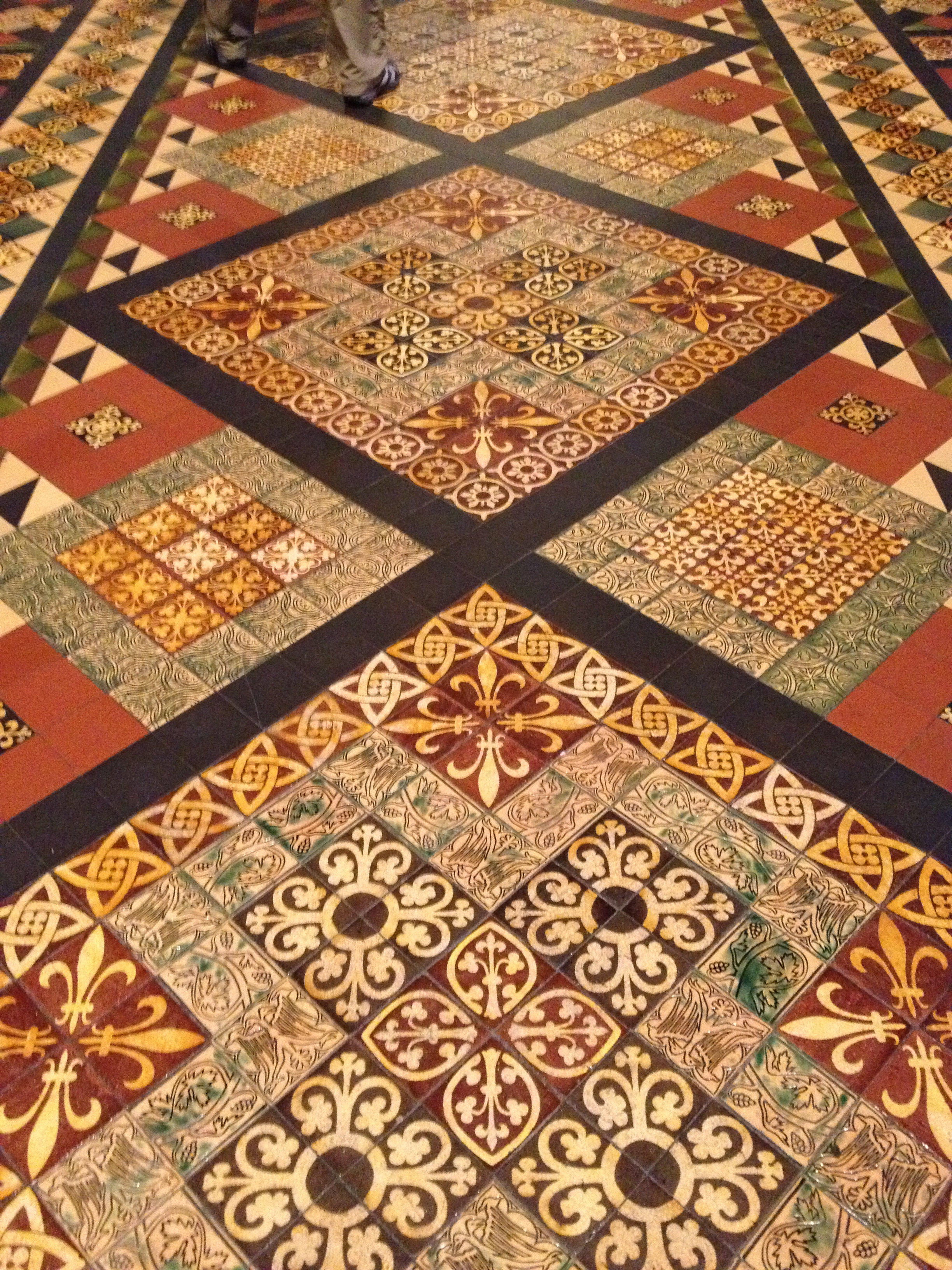 """Medieval Floor Tile """"Quilts"""" in the Churches of Dublin ..."""
