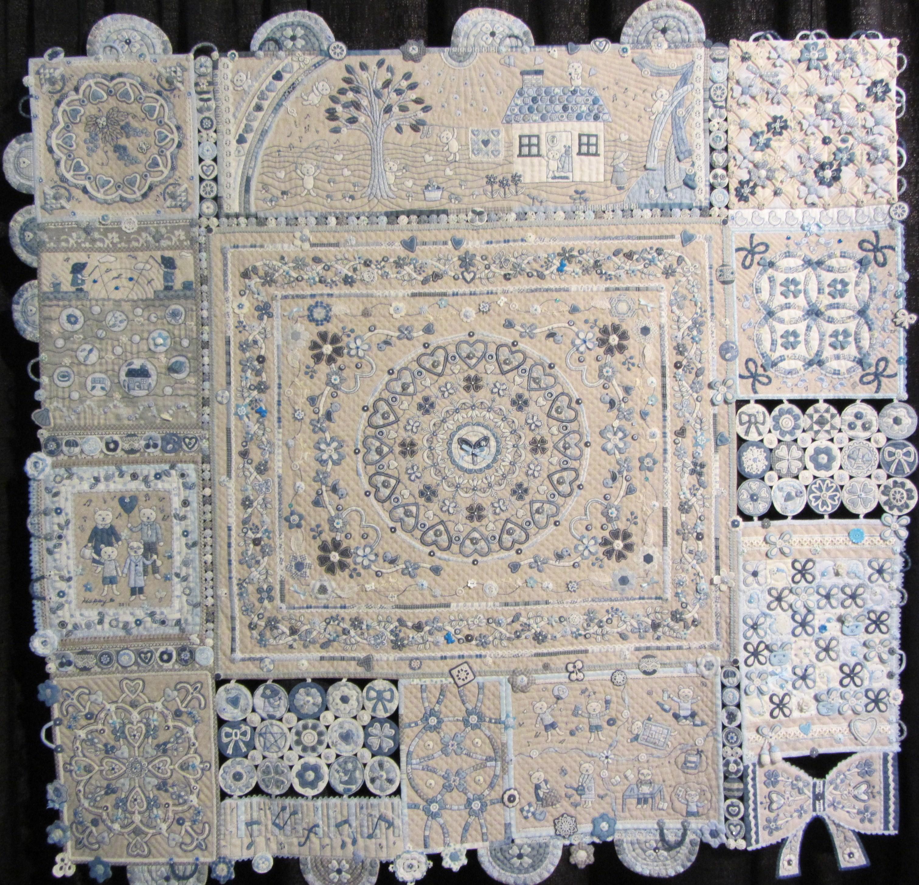 Blue Tone Quilt by Aki Sakai