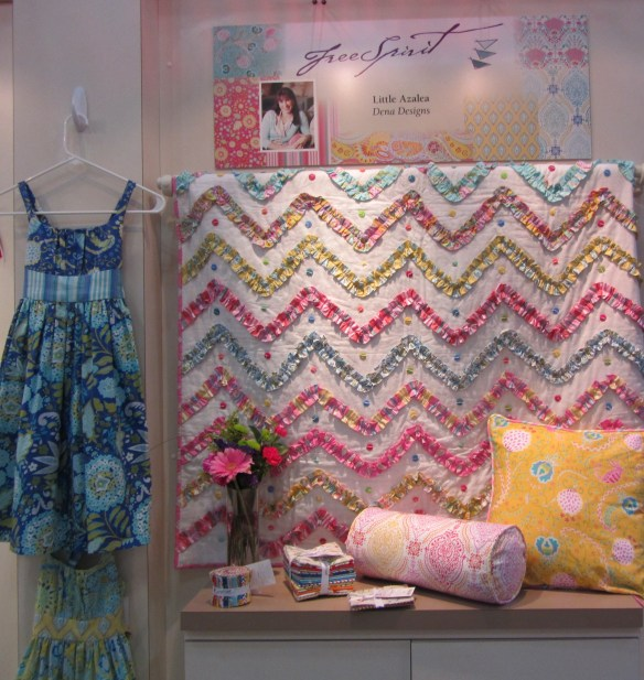 How cute is this Dena Designs ruffle chevron quilt?