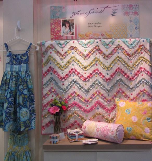 How cute is this Dena Designs ruffle chevron quilt?