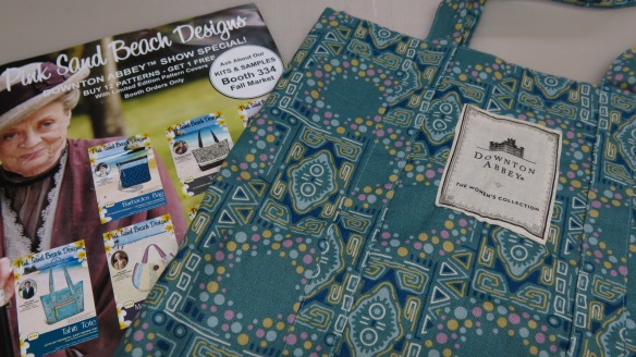 Andover Fabric makes a big splash with their Downton Abbey collection - free tote bags at Schoolhouse.