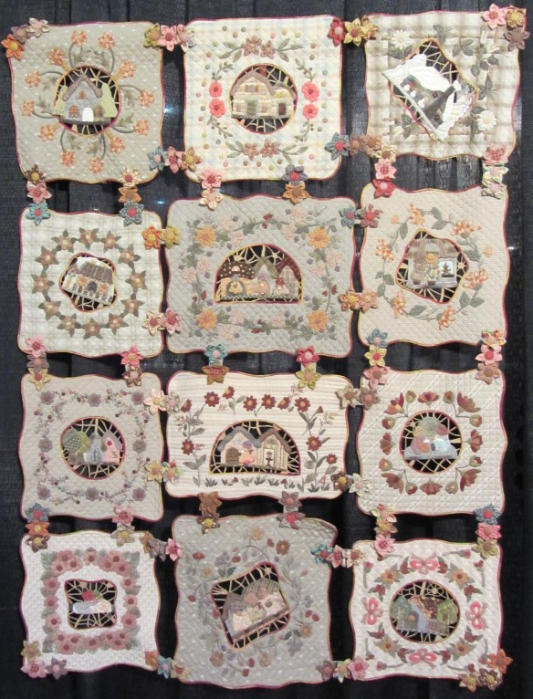 One of the quilts in the World of Mother's Dream exhibit by Reiko Kato