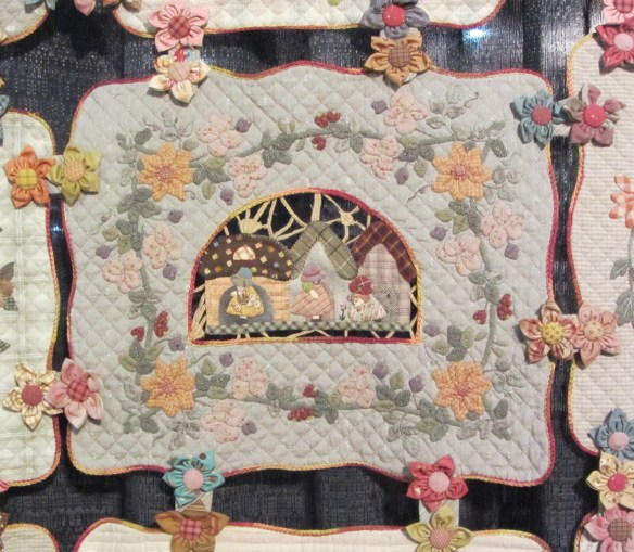 A detail of the Reiko Kato quilt