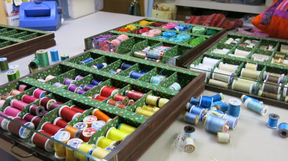 It makes me so happy to see all these threads organized by color!