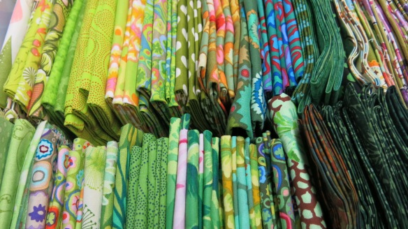 It's easy to see that green is my favorite color judging by the number of green fabrics I have in my stash.
