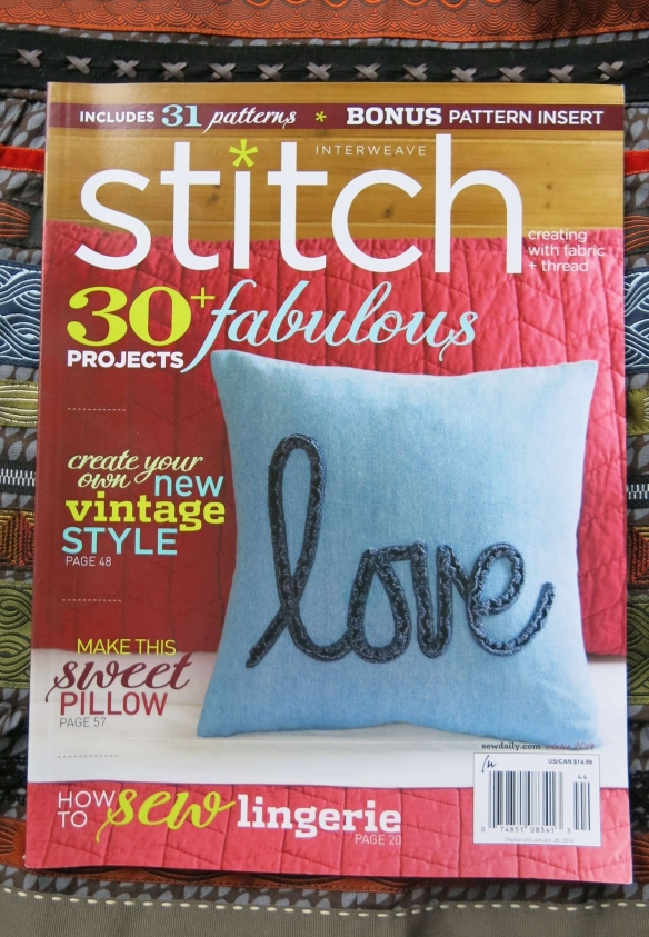 Winter 2014 issue of Stitch Magazine