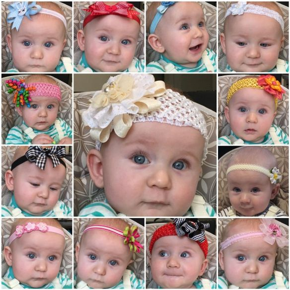 The Many Faces of Claire - and her Headbands!